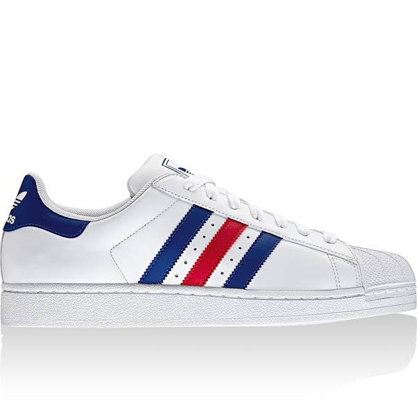 adidas superstar 2 blanc et bleu