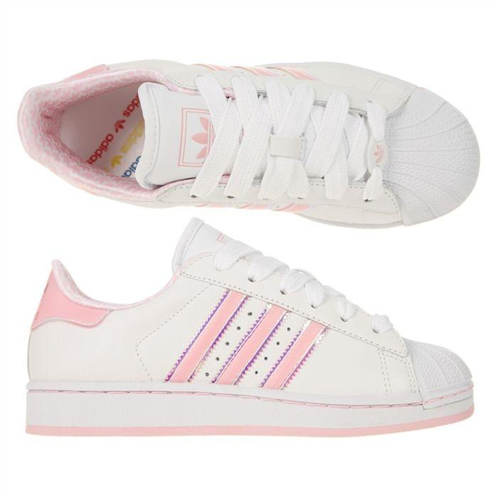 la moitié 6a9cd 10c4b Superstar Femme Femme Adidas Rose Superstar Rose Adidas ...