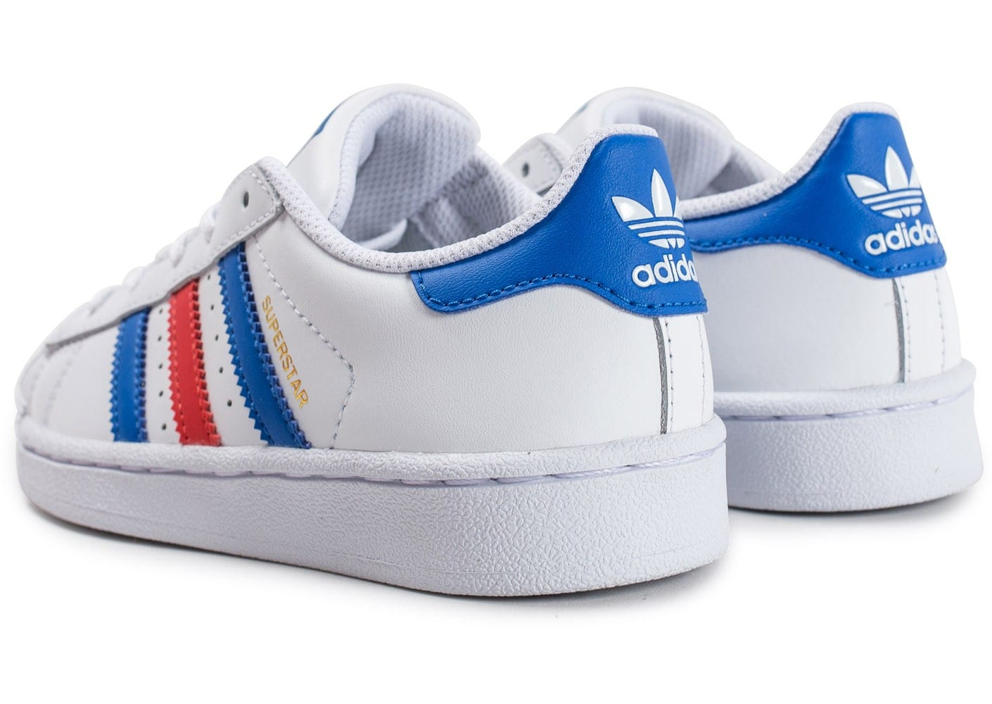 adidas superstar bleu blanc rouge femme