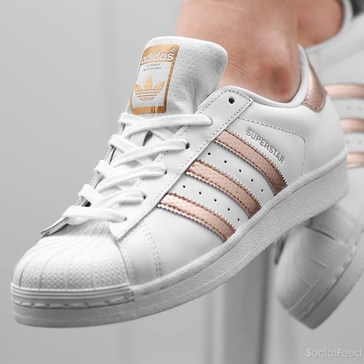 superstar adidas rose gold