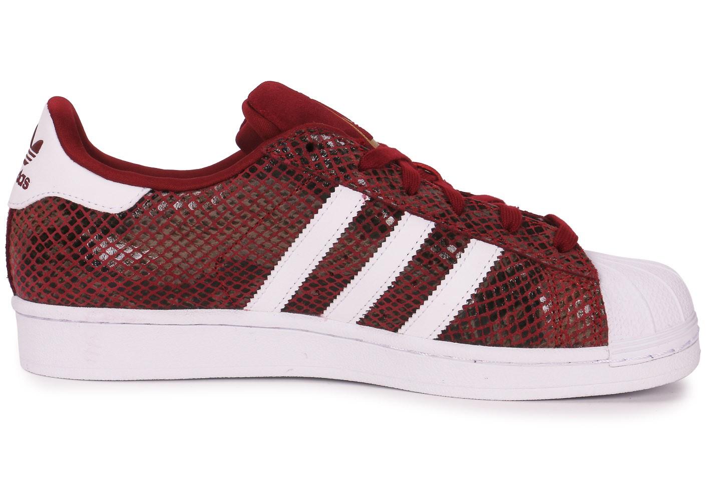 adidas superstar blanche et rouge junior