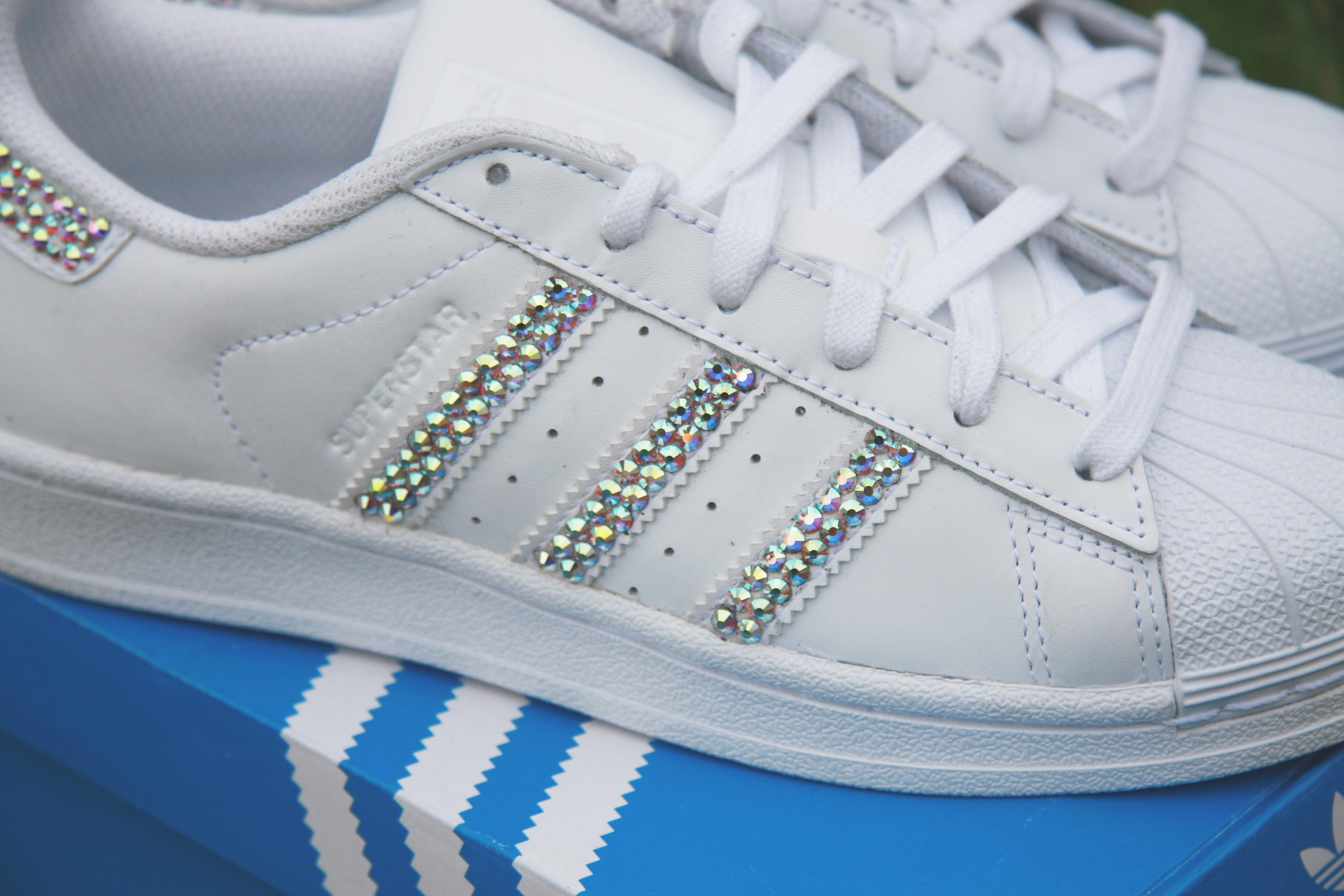 adidas superstar blanche strass