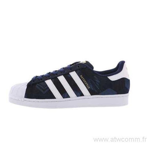 adidas superstar jacquard bleu