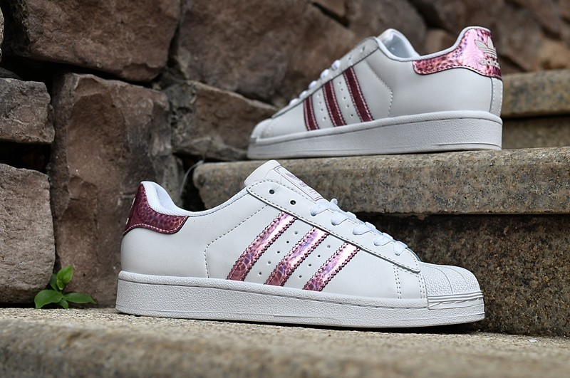 adidas superstar laser 05 femme blanc rose