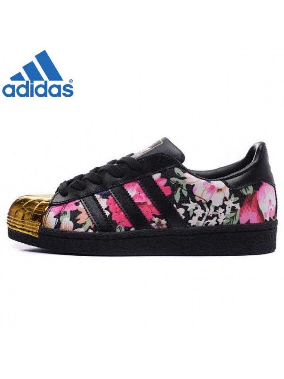 adidas superstar noir fleur