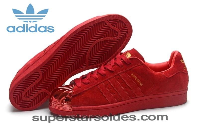adidas femme superstars rouge